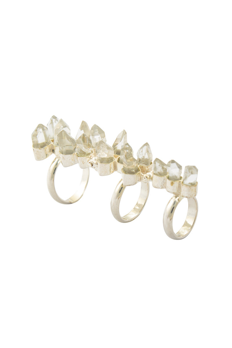 Crystal Hinge Ring
