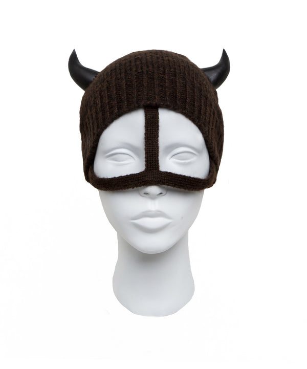 Beanie with the horn and strap made by House of Malakai
