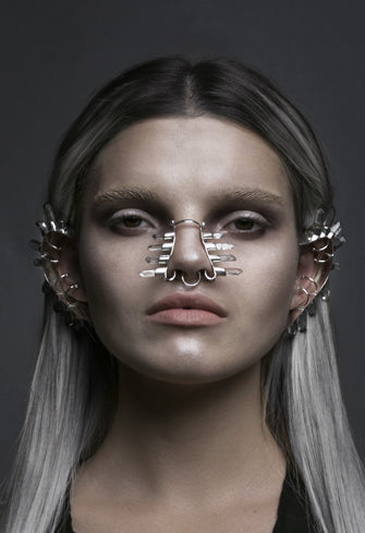 Nose cuff with crystal made by House of Malakai