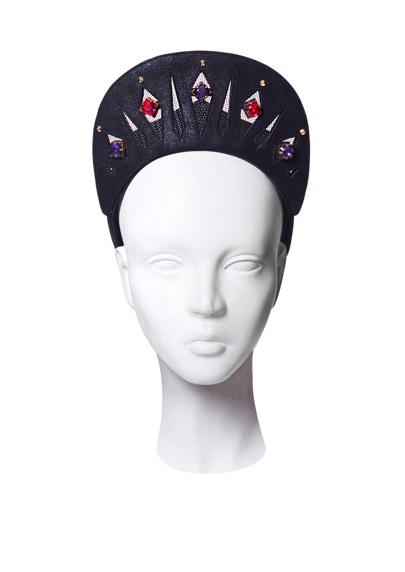 Baseball cap with jewel crown made by House of Malakai