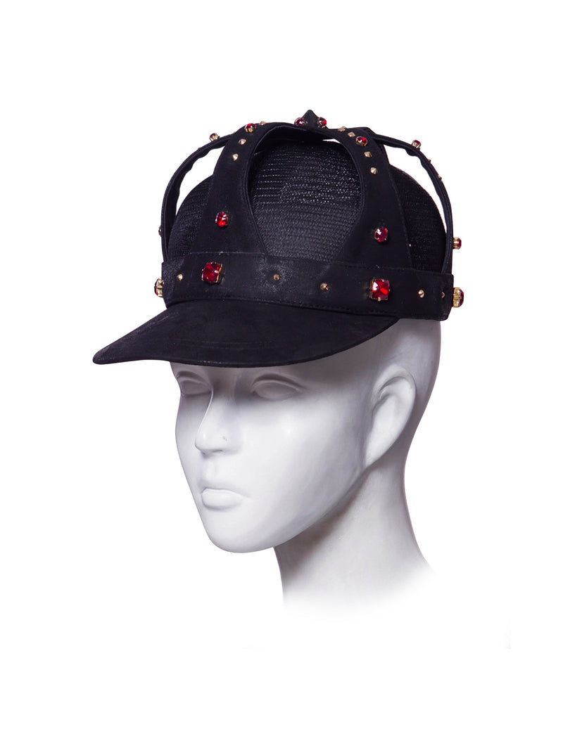 Baseball cap with crown jewelry made by House of Malakai