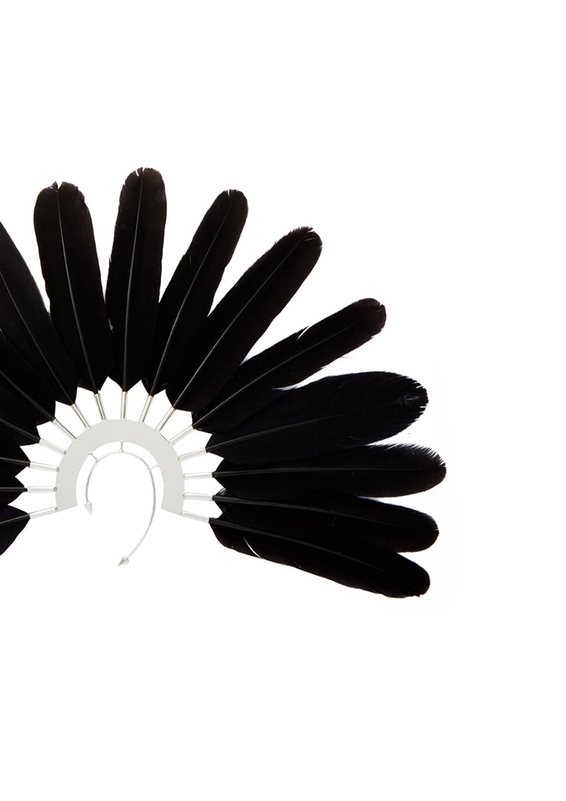Talon Feather Ear Cuffs 4 - House of Malakai