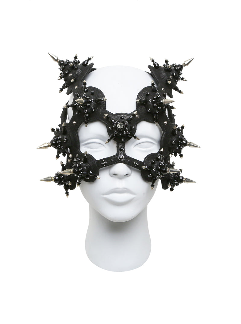 Black Headress mask with spike made by House of Malakai