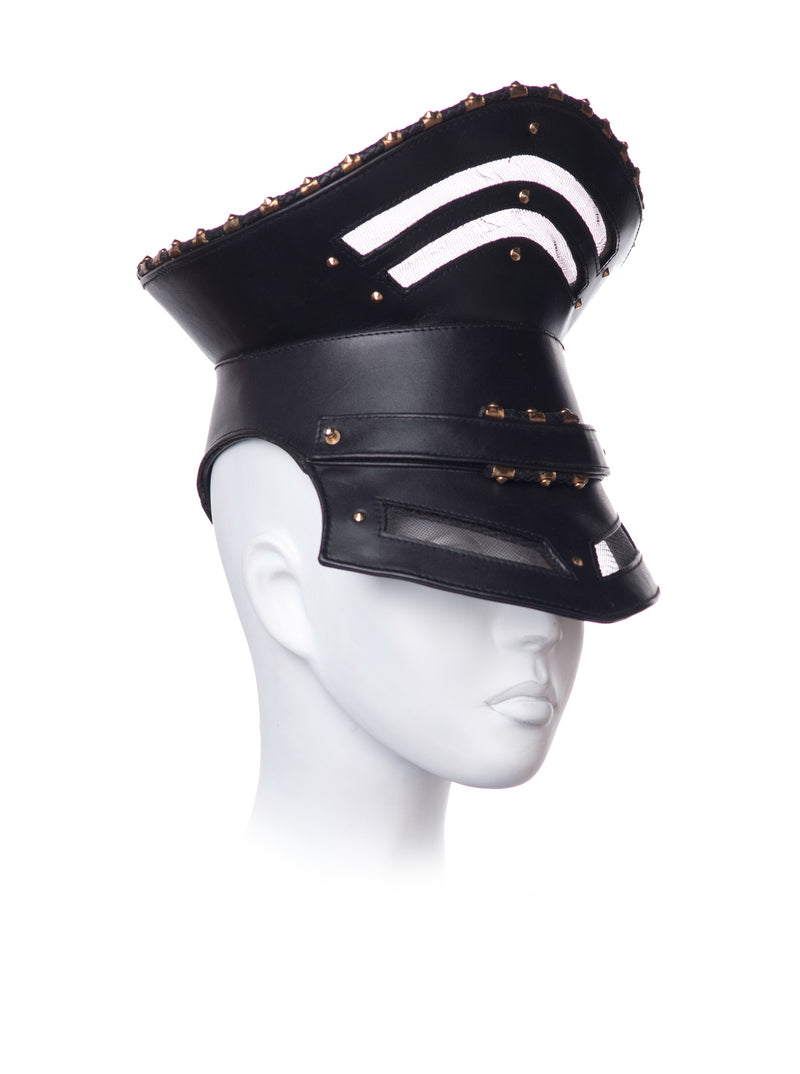 Military leather hat Visor made by House of Malakai