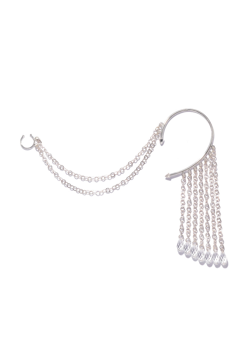Drop Chain Ear to Nose Cuff 2
