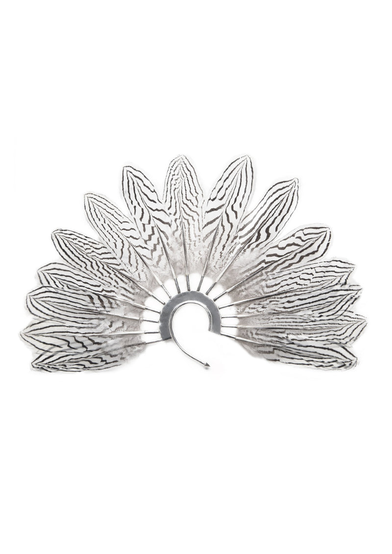 Ear cuff Metal with feather rays made by House of Malakai