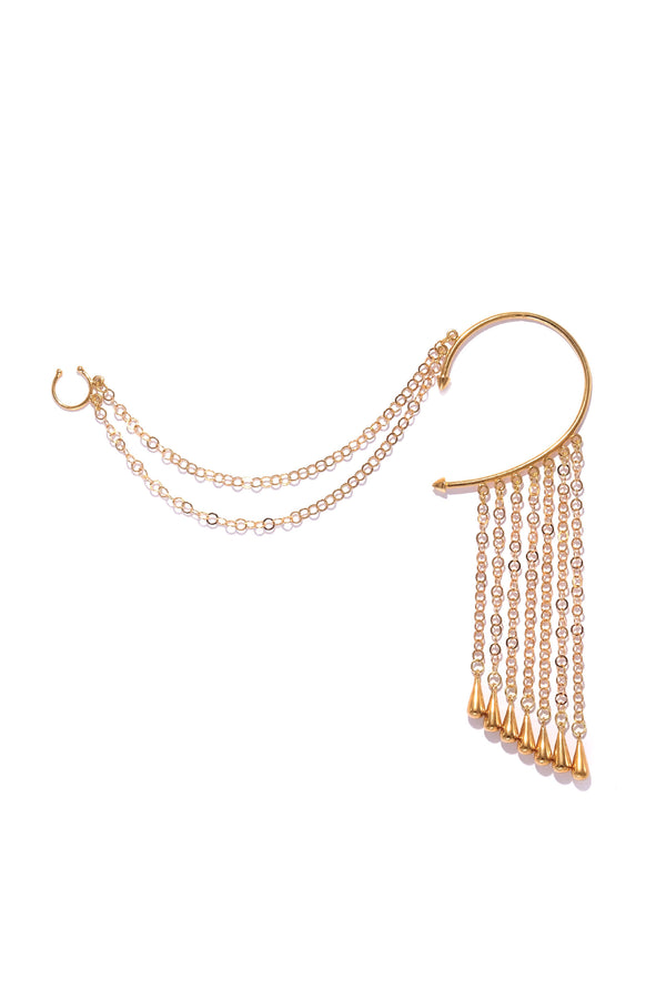 Drop Chain Ear to Nose Cuff 1