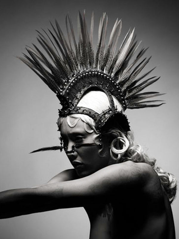 Cetan headdress with feather made by House of Malakai