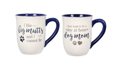 Ceramic Dog Mugs Assorted