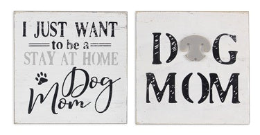 Wood Dog Mom Sign Assorted