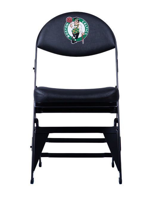Boston Celtics Black X-Frame Court Side Folding Chair
