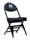 Boston Celtics Black X-Frame Courtside Folding Chair