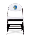 LIMITED EDITION - Golden State Warriors - White X-Frame Courtside Folding Chair