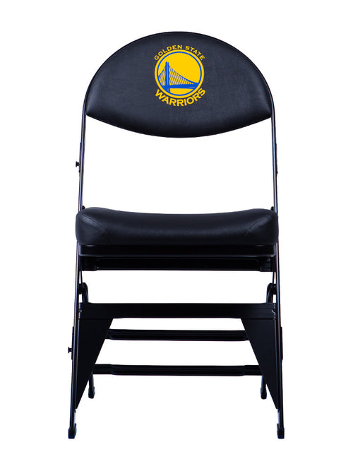 Golden State Warriors X-Frame Courtside Folding Chair Black