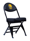 Golden State Warriors X-Frame Court Side Folding Chair Black