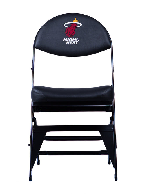 Miami Heat X-Frame Courtside Folding Chair  Black
