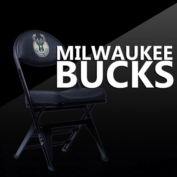 Milwaukee Bucks X-Frame Court Side Folding Chair