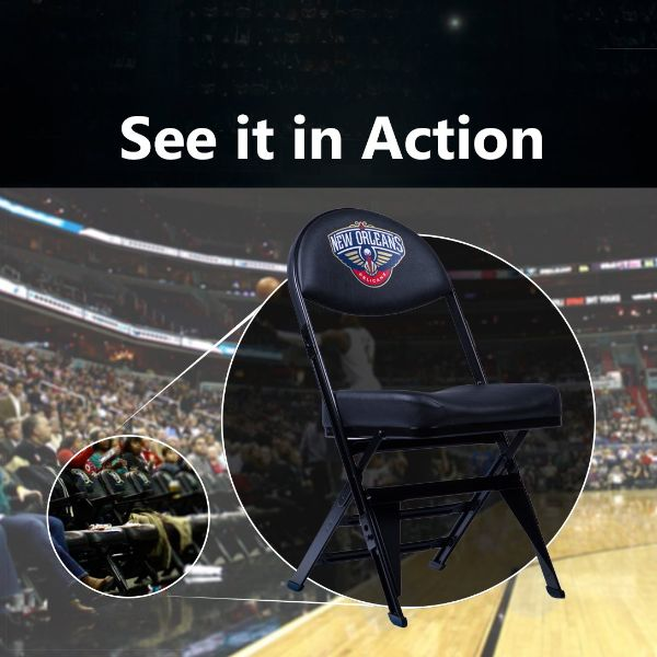 New Orleans Pelicans X-Frame Courtside Folding Chair