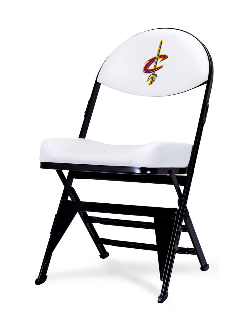 LIMITED EDITION - Cleveland Cavaliers - White X-Frame Courtside Folding Chair