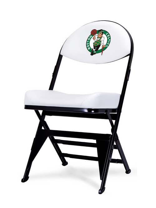 Boston Celtics White X-Frame Court Side Folding Chair