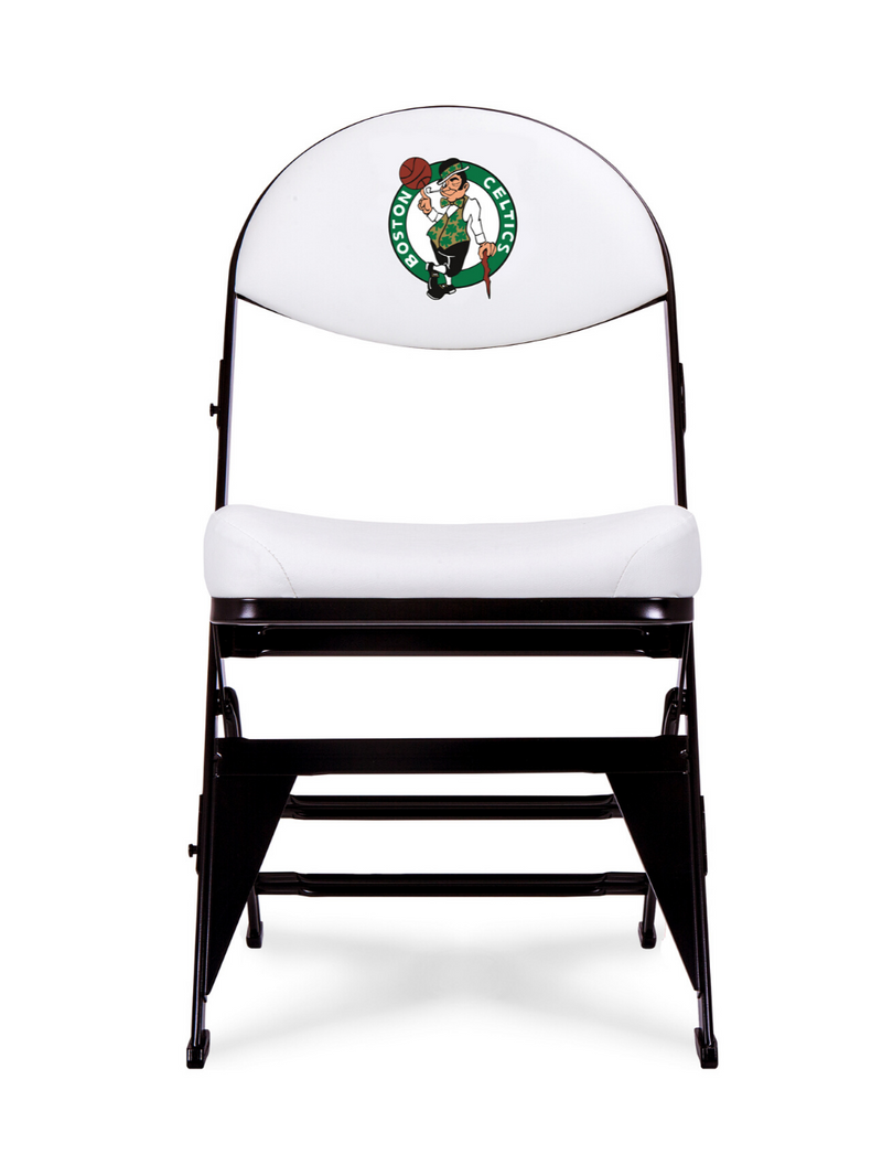 LIMITED EDITION - Boston Celtics White X-Frame Courtside Folding Chair