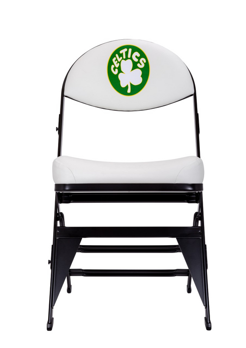 Boston Celtics Hardwood Classics NBA Logo chair - White
