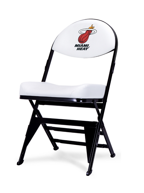 LIMITED EDITION - Miami Heat X-Frame Courtside Folding Chair White