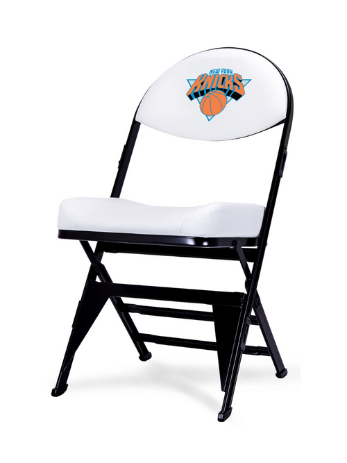 LIMITED EDITION - New York Knicks  White X-Frame Courtside Folding Chair