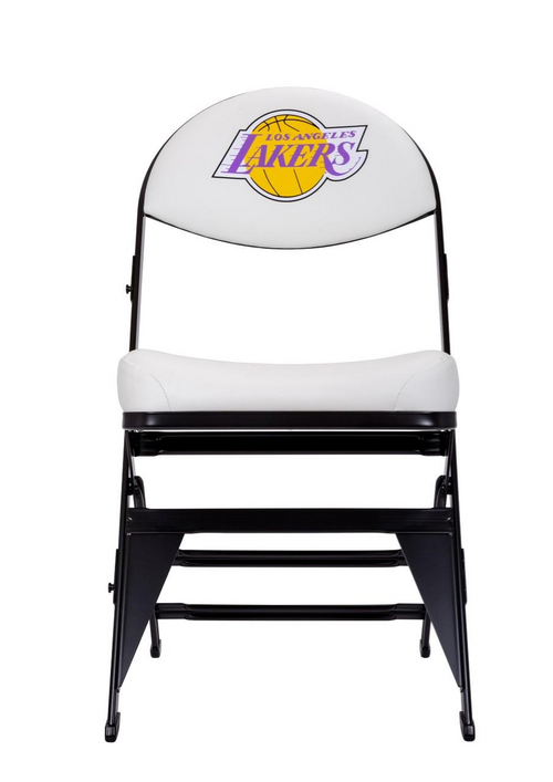 Los Angeles Lakers Hardwood Classics NBA Logo Chair - White