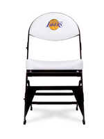 LIMITED EDITION - Los Angeles Lakers - White X-Frame Courtside Folding Chair