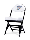 LIMITED EDITION - Oklahoma City Thunder - White X-Frame Courtside Folding Chair
