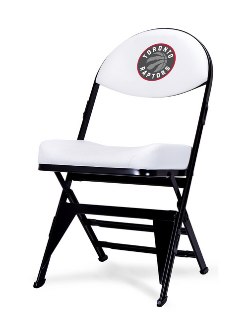 LIMITED EDITION - Toronto Raptors White X-Frame Courtside Folding Chair