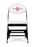 Houston Rockets  X-Frame Court Side Folding Chair White