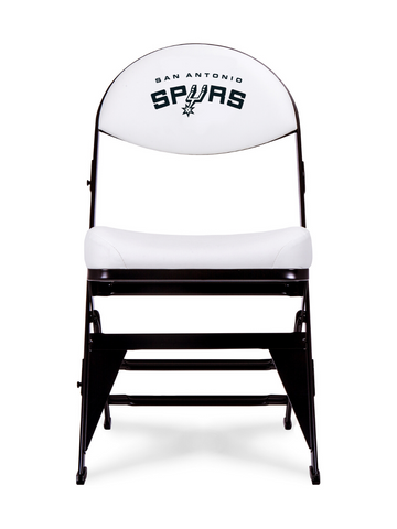 San Antonio Spurs White X-Frame Court Side Folding Chair