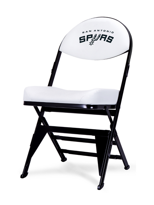 LIMITED EDITION - San Antonio Spurs - White X-Frame Courtside Folding Chair