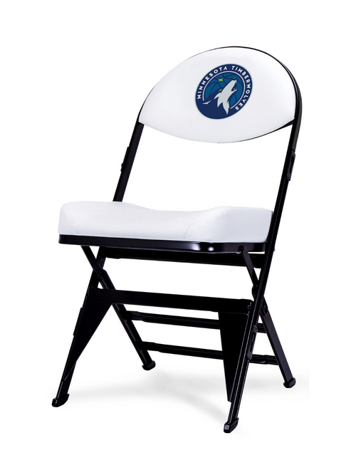 LIMITED EDITION - Minnesota Timberwolves - White X-Frame Courtside Folding Chair