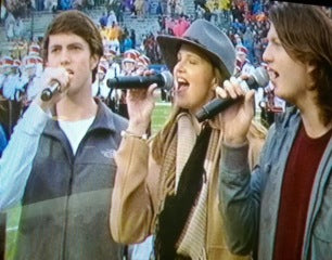 Cole, Missy, & Reed singing at Independence Bowl 2014.