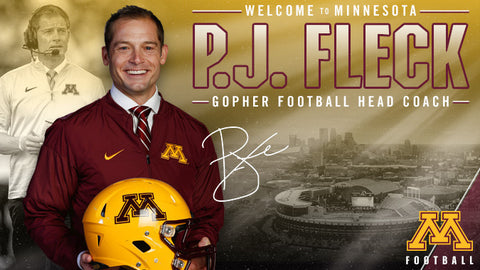 PJ Fleck Head Coach Gopher Football Pro Image Sports at Mall of America