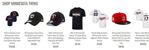 Minnesota Twins Collection Preview Pro Image Sports at Mall of America