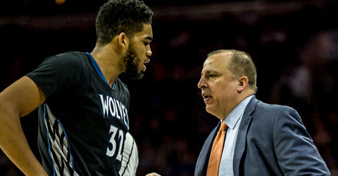 Pro Image Sports at Mall of America Karl-Anthony Towns Talks With Tom Thibodeau