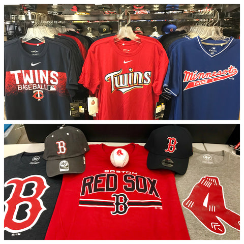 Pro Image Sports at Mall of America Minnesota Twins vs Boston Red Sox Gear