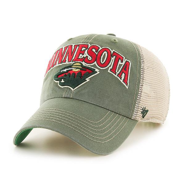 47 Brand Hats Adult One Size / Green Minnesota Wild Bottle Green Tuscaloosa Clean Up Cap