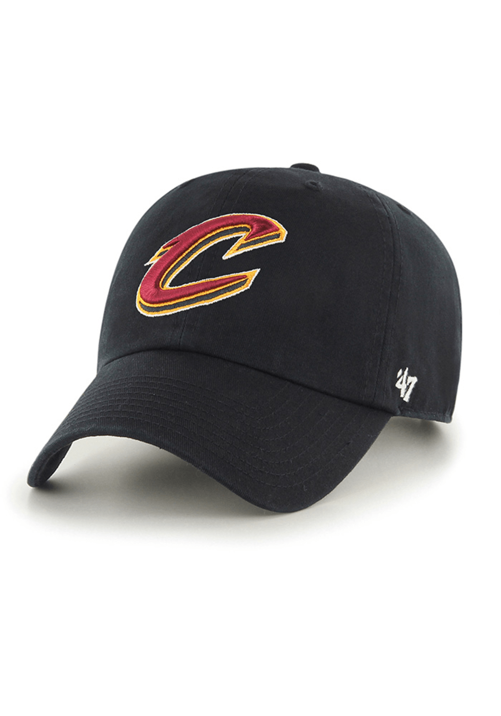 47 Brand Hats One Size / Black Cleveland Cavaliers 47 Brand Clean up Adjustable Hat - Black,
