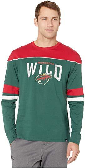 47 Brand Shirts Men's Minnesota Wild '47 Green Win Streak Long Sleeve Shirt
