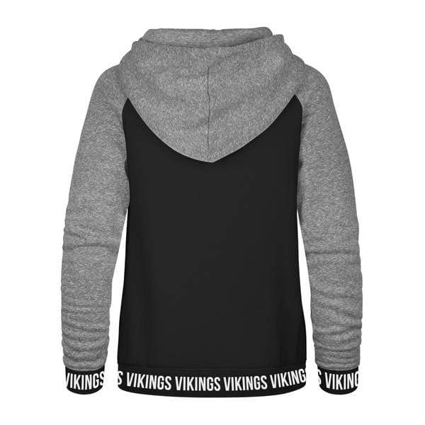 47 Brand Sweatshirts Women's Minnesota Vikings '47 Black Encore Revolve Hooded Sweatshirt