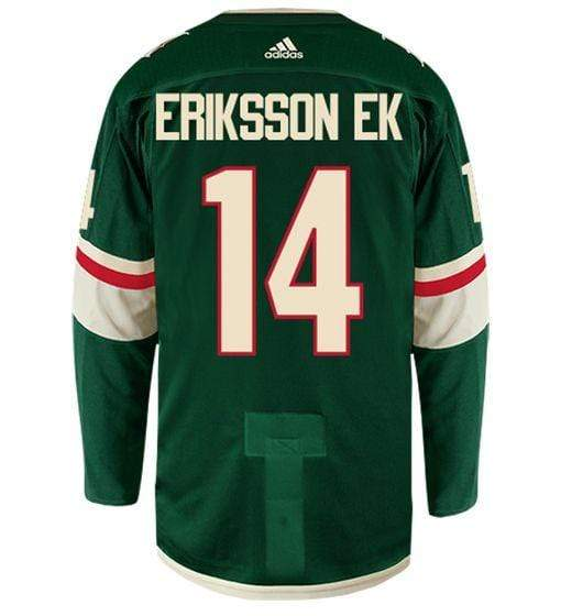 adidas Adult Jersey Men's Joel Eriksson Ek Minnesota Wild adidas Green Authentic Player Jersey
