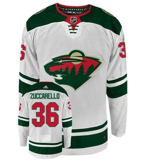 adidas Adult Jersey Men's Mats Zuccarello Minnesota Wild adidas White Authentic Player Jersey