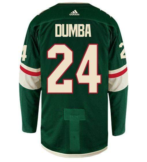 adidas Adult Jersey Men's Matt Dumba Minnesota Wild adidas Green Authentic Player Jersey