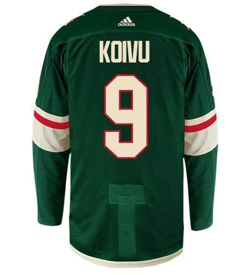 adidas Adult Jersey Men's Mikko Koivu Minnesota Wild adidas Green Authentic Player Jersey