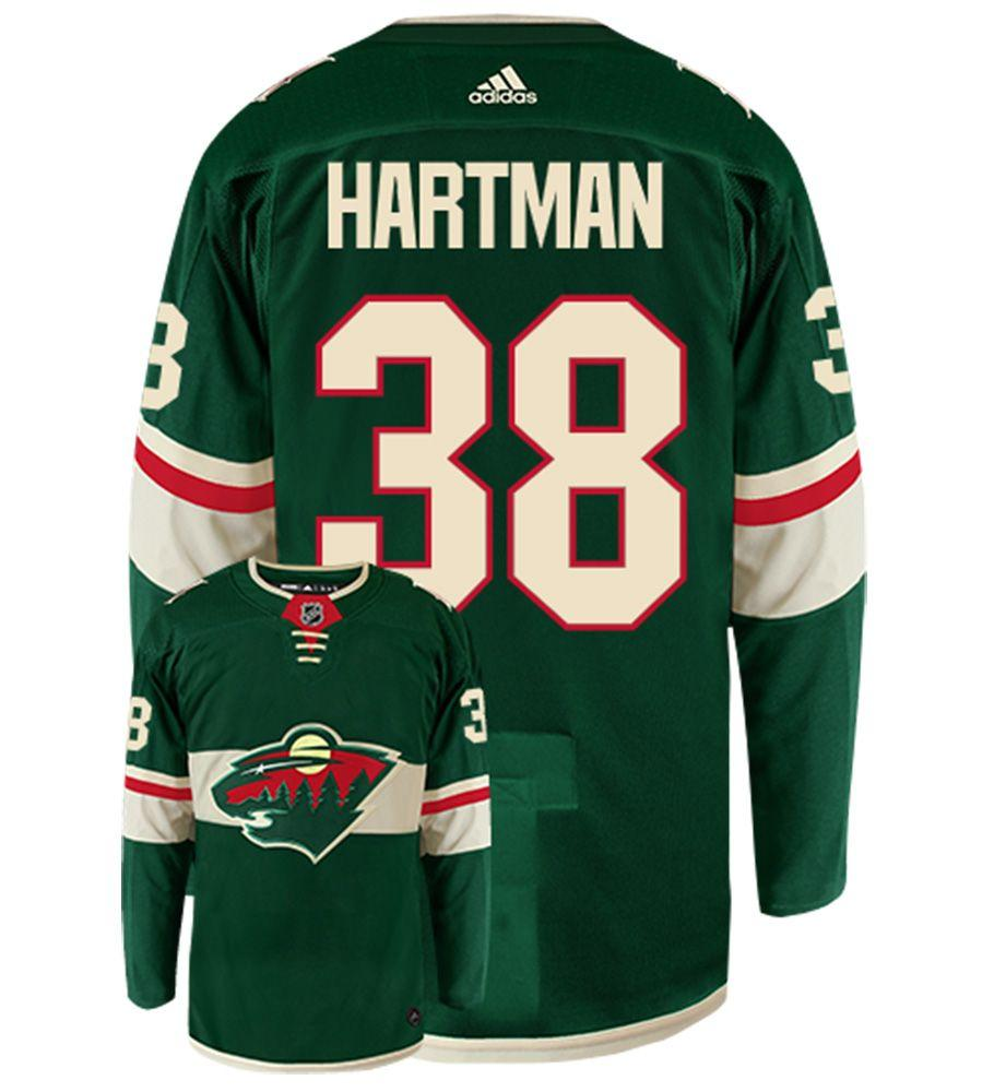 adidas Adult Jersey Men's Ryan Hartman Minnesota Wild adidas Green Authentic Player Jersey